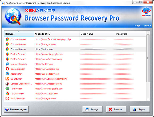 All-in-one Browser Password Recovery Software