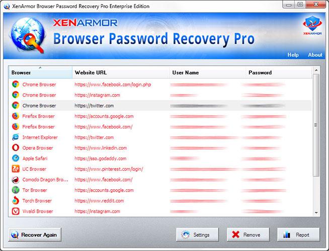 XenArmor Browser Password Recovery Pro