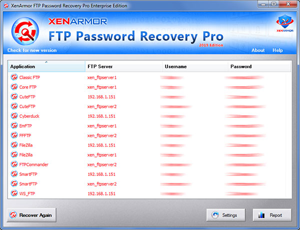 FTP Password Recovery Pro 2020