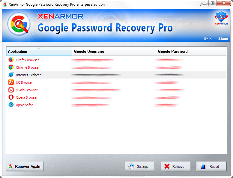 Google Password Recovery Software
