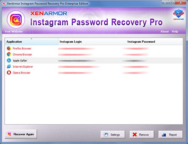 Instagram Password Recovery Software