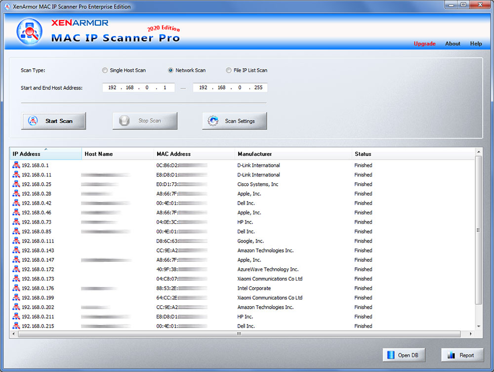Windows 7 XenArmor MAC IP Scanner Pro 2020 full