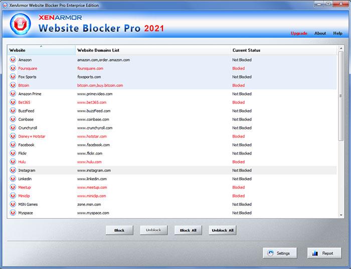 XenArmor Website Blocker Pro