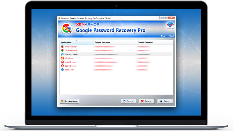 XenArmor Google Password Recovery Pro