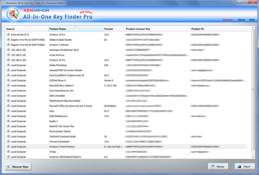 All In One Key Finder Pro screenshot