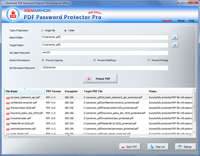 PDF Password Protector Pro