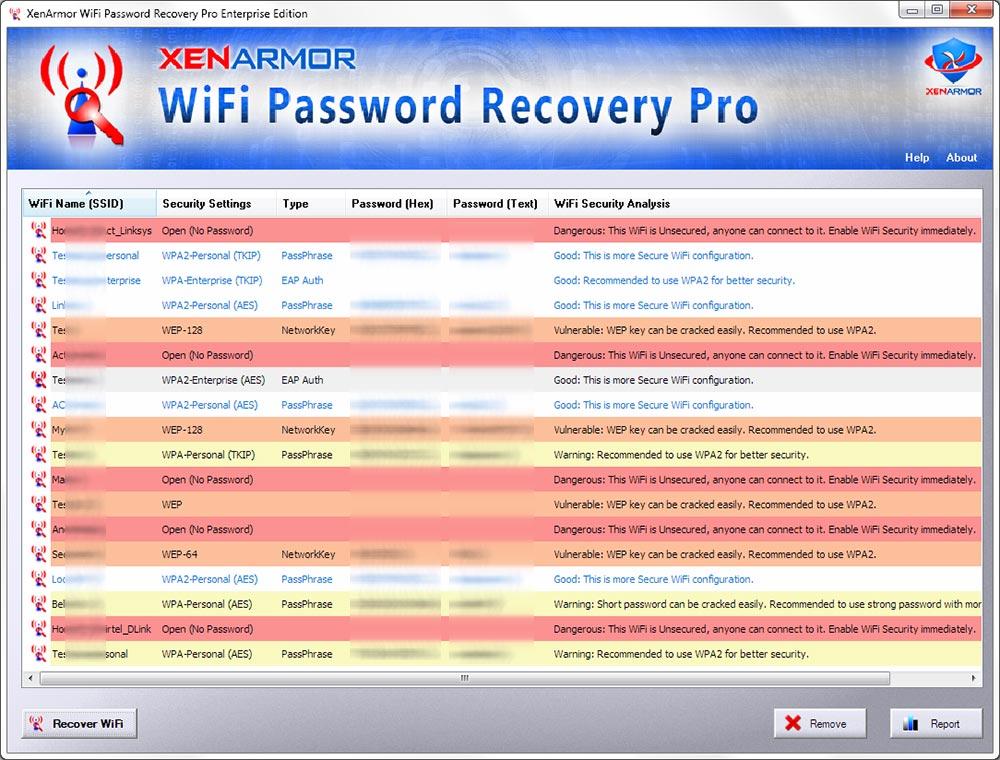 Click to view XenArmor WiFi Password Recovery Pro 2020 screenshot