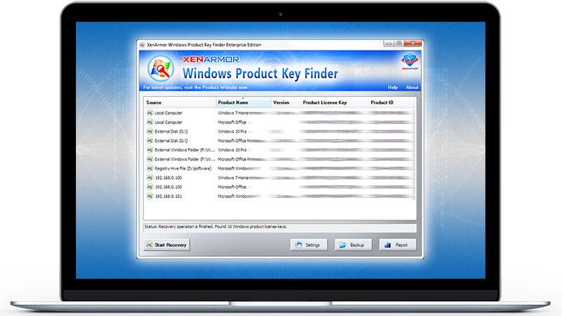 Windows product id not key